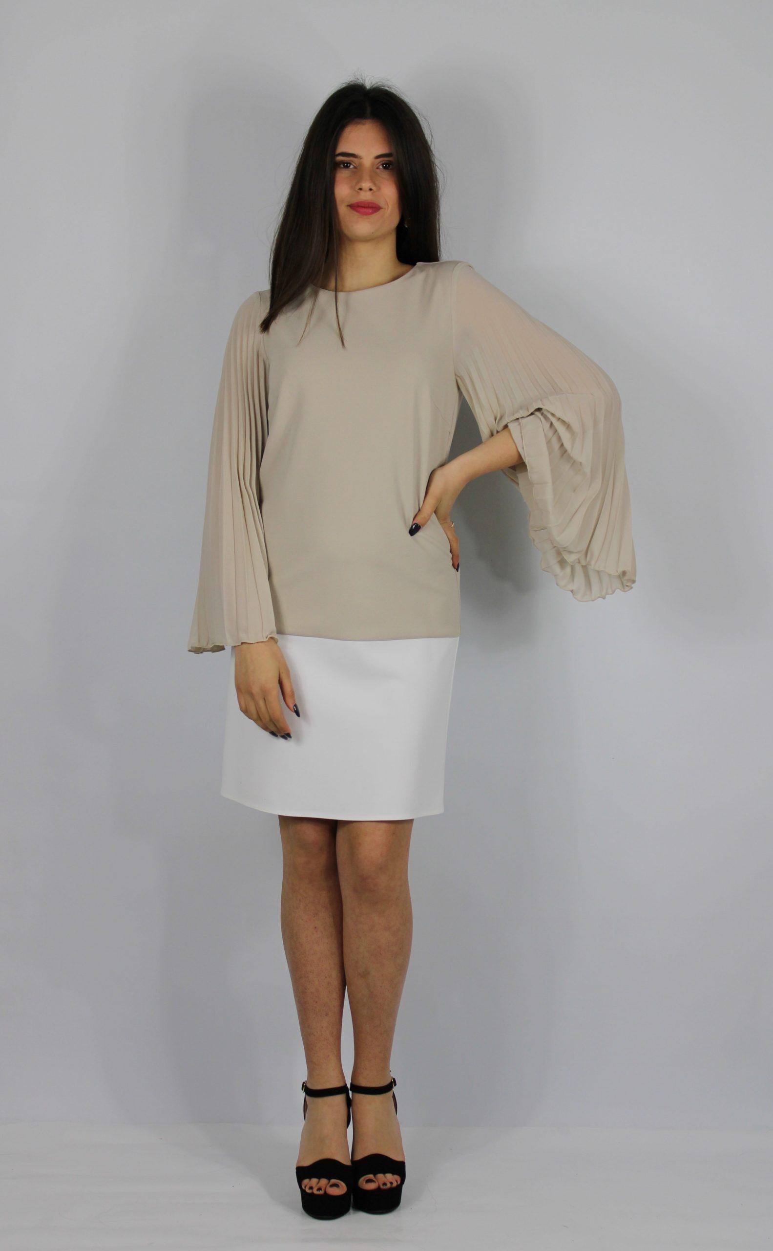 blusa stile casual beige charme canaris stile casual vestito elegante lecce salento galatina