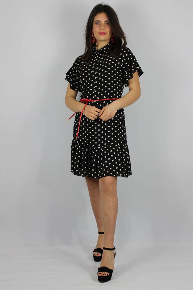 abito-donna-bianco-nero-a-pois-salento-lecce-galatina-charme-canaris-stile-casual