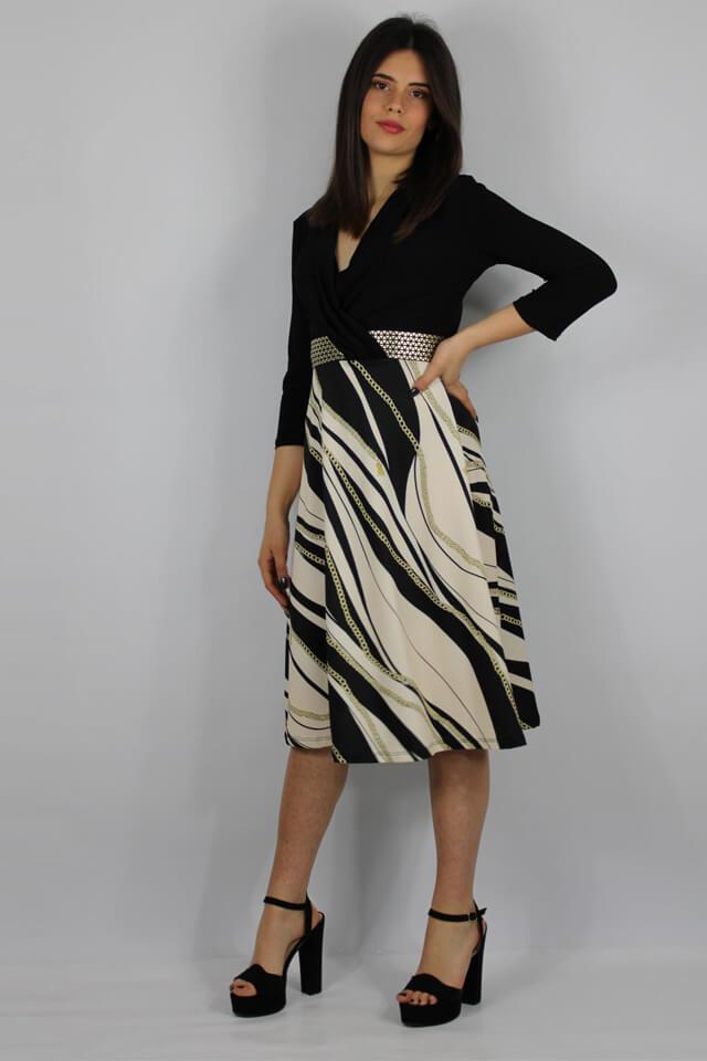 abito-stile-casual-nero-bianco-charme-canaris-donna-lecce-galatina-salento