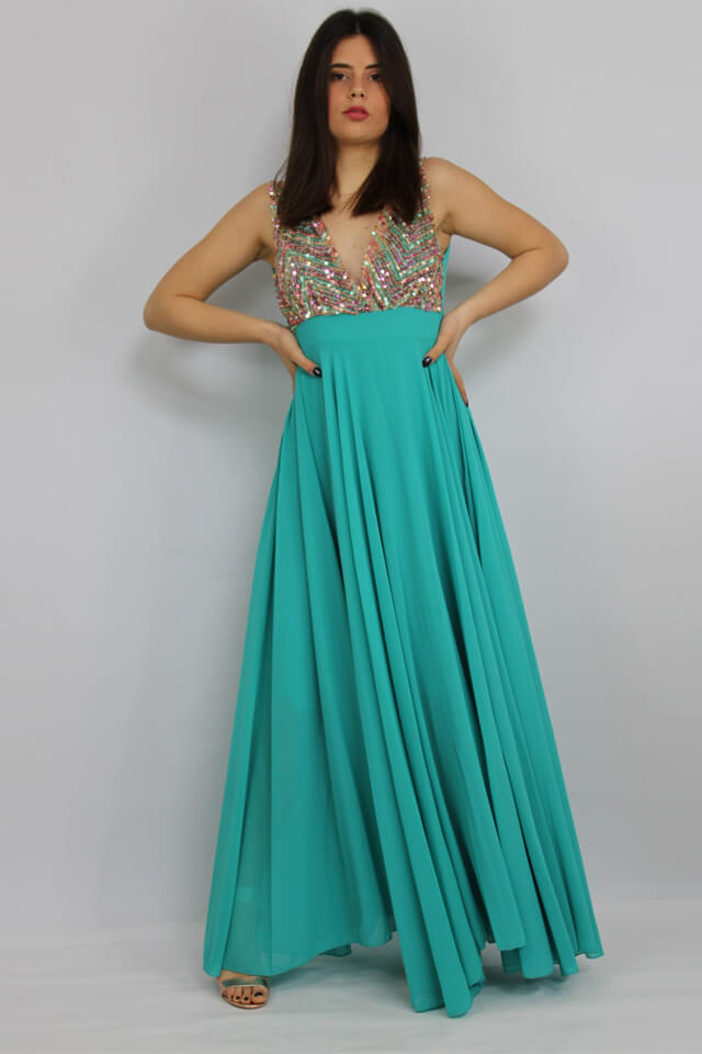 abito-verde-corpetto-donna-salento-galatina-lecce-casual-stile-charme-canaris-perlato