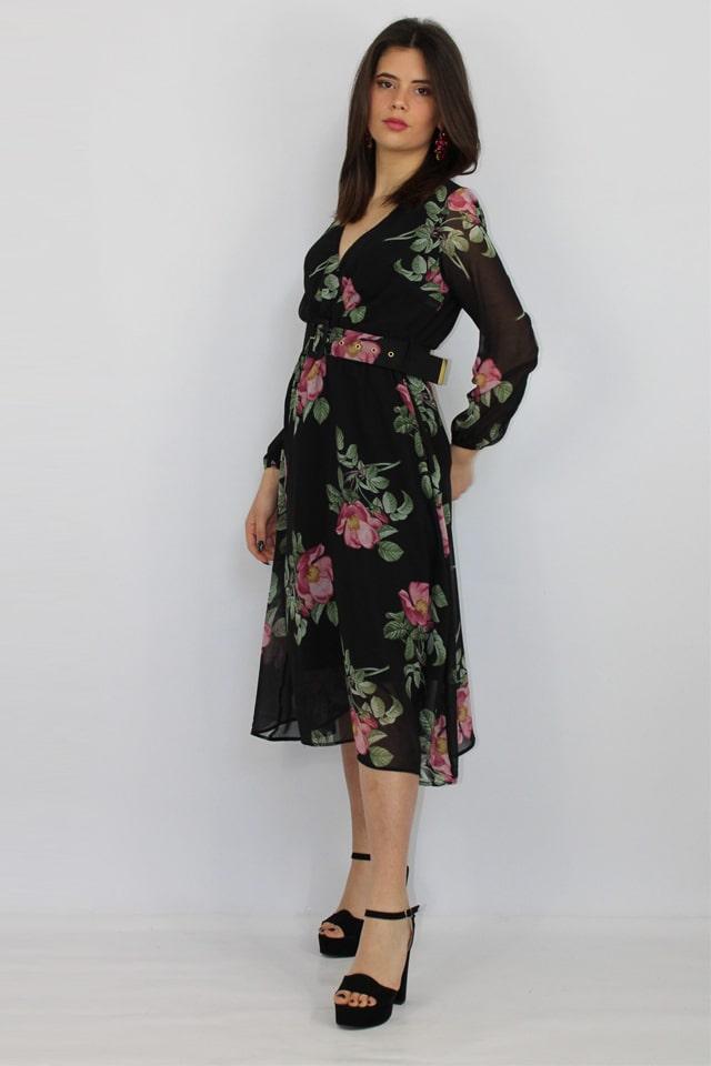 charme-canaris-abito-fiori-nero-donna-stile-casual-galatina-salento-lecce