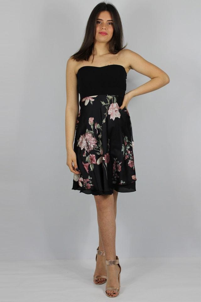 donna-abito-corto-stile-casual-lecce-nero-fiori-charme-canaris-galatina-lecce-salento