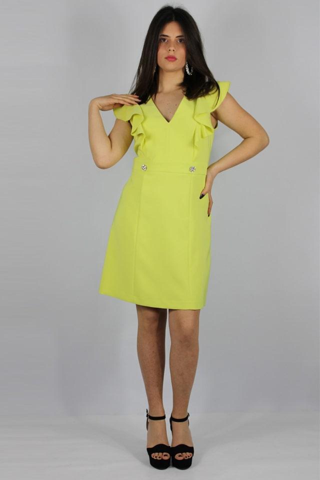 donna-abito-giallo-vestito-elegante-galatina-lecce-stile-casual-charme-canaris-salento