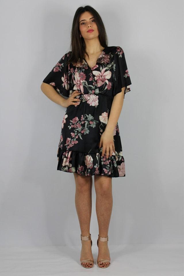 lecce-stile-casual-abito-fiori-nero-corto-galatina-lecce-charme-canaris-donne